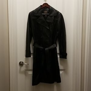 Danier Jackets & Coats - Black leather long trenchcoat